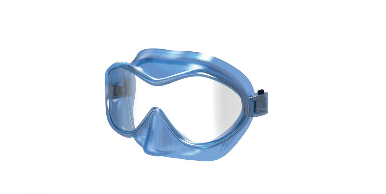 Bezrámečková juniorská maska BAIA pro děti 4-9 let. SEAC SUB