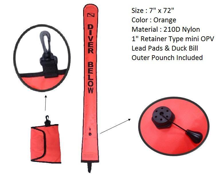 Bojka dekompresní D210 nylon rozměr 183 x 18 cm NTEC